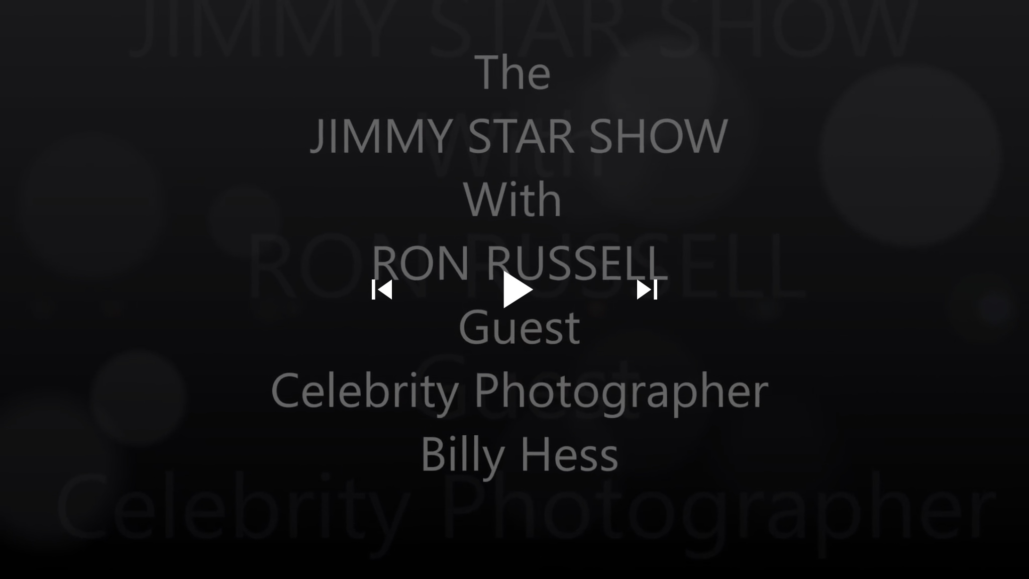 #Episode #Celebrity #Photographer Billy Hess @BillyHessPhotos | The Jimmy Star Show with Ron Russell, Wednesday, October 17, 2018 #jimmystarshow