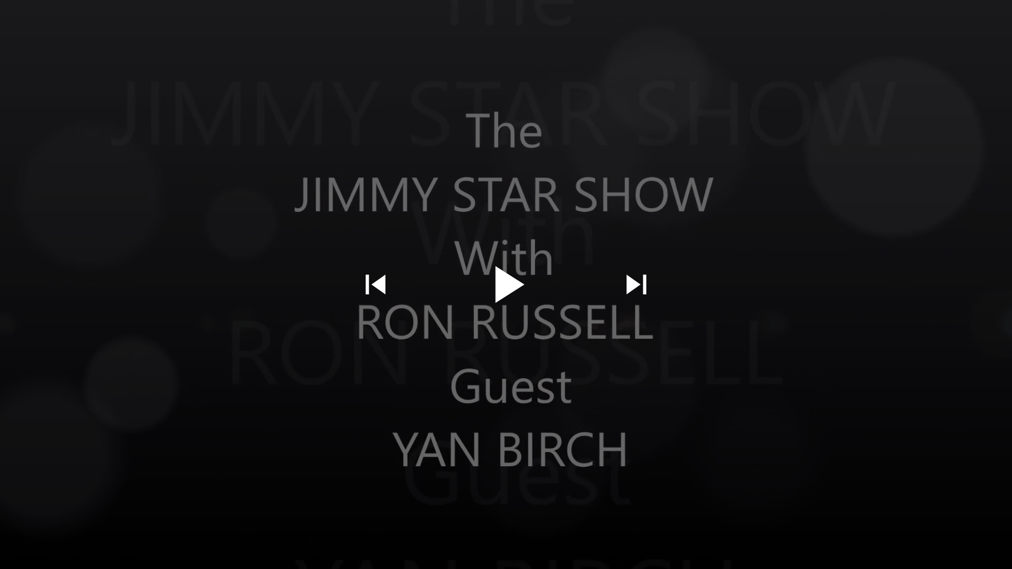 #Episode #Actor Yan Birch @YanBirch | The Jimmy Star Show with Ron Russell, Wednesday October 10, 2018 #jimmystarshow