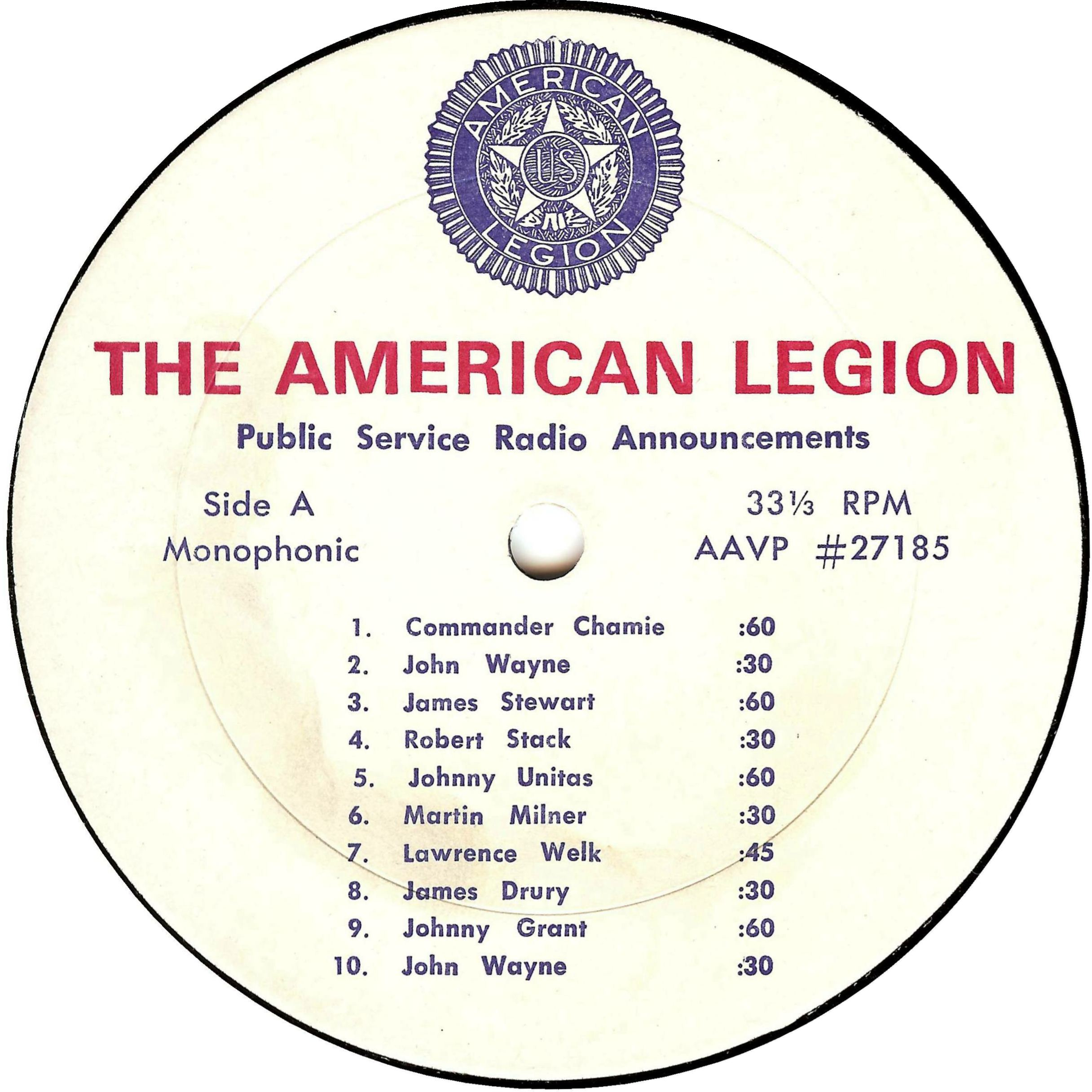 American Legion Reach Out The Future Is In Your Hands Jimmy Johnny 5 Bing Images Others Appearing On Album Besides Those Seen Label Are Mel Allen Crosby