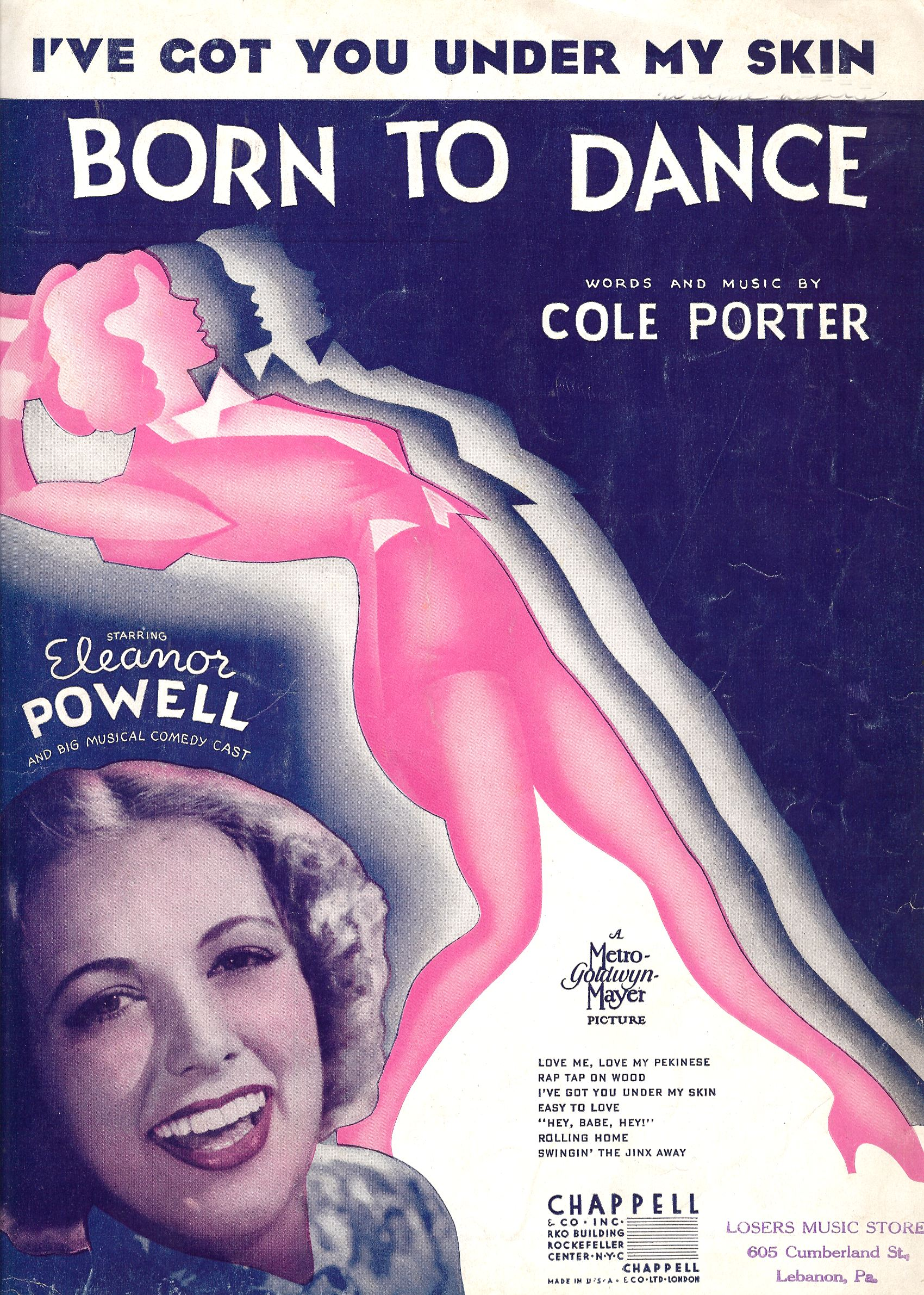 A Born to Dance Movie POSTER 11 x 17 Eleanor Powell USA NEW James Stewart