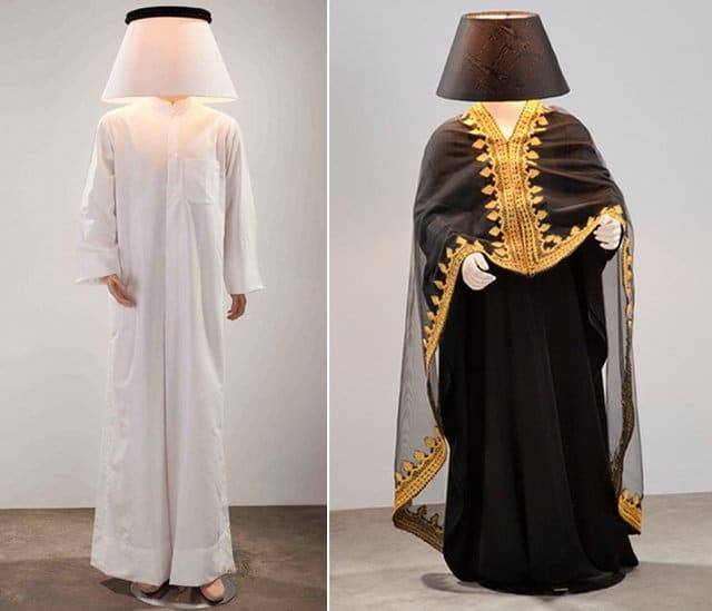 The Daily Lamp  Full-Size Human Lamps from Al Hamad Design