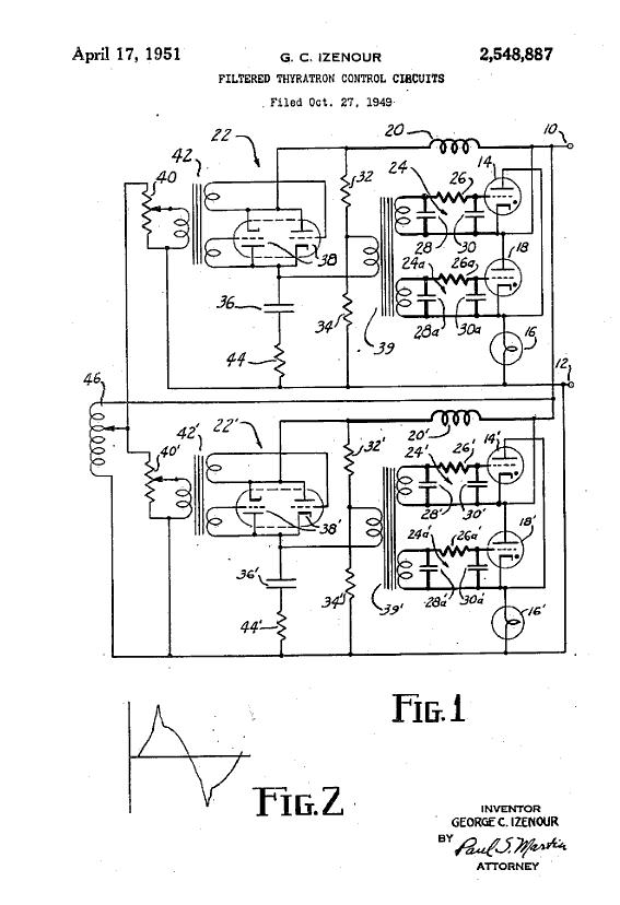 izenour-thyratron-circuit