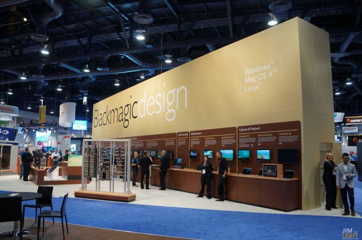 It's BLACK MAGIC DESIGN's Booth, InfoComm 2014