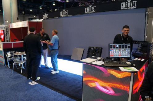 Lucciano giggling, the CHAUVET Professional Video Booth