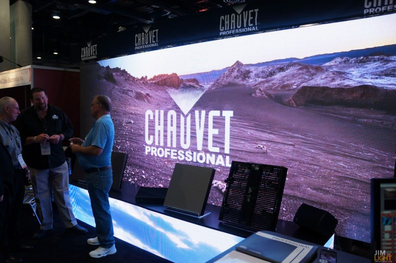 CHAUVET Professional booth in the Video Pavilion, InfoComm 2014
