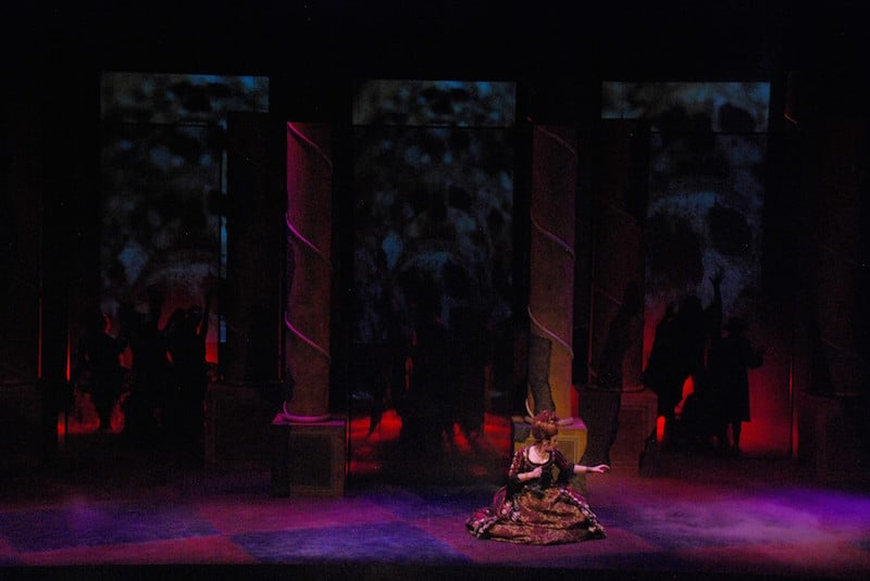 Don Giovanni-Scenic, Lighting, and Projection by Me. Costumes and photograph Kasey Allee-Foreman, Director William Ferrara