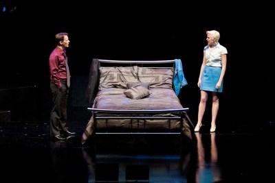Jim Poulos, Emily Stockdale - Company at Geva Theatre Center, 2012: Director: Mark Cuddy, Scenic Design: G.W. Mercier, Costume Design: Pamela Scofield, Lighting Design: Joel Moritz, Photos: Ken Huth
