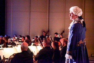 """""""IMG_6216.jpg_ The Fayetteville Symphony, Cape Fear Regional Thatre and Th university of North Carolina at Pembroke Choir present Amadeus at Seabrook Auditorium on Friday, March20th, 2015."""""""