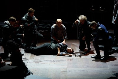Harrison Farmer, Chaunery Kingsford Tanguay, Christopher Gerson, Jim Poulos, Jerry Vogel, Noah Benjamin Cornwell - Hamlet by William Shakespeare presented by Repertory Theater of St. Louis on Oct 10, 2017. Photo: Peter Wochniak