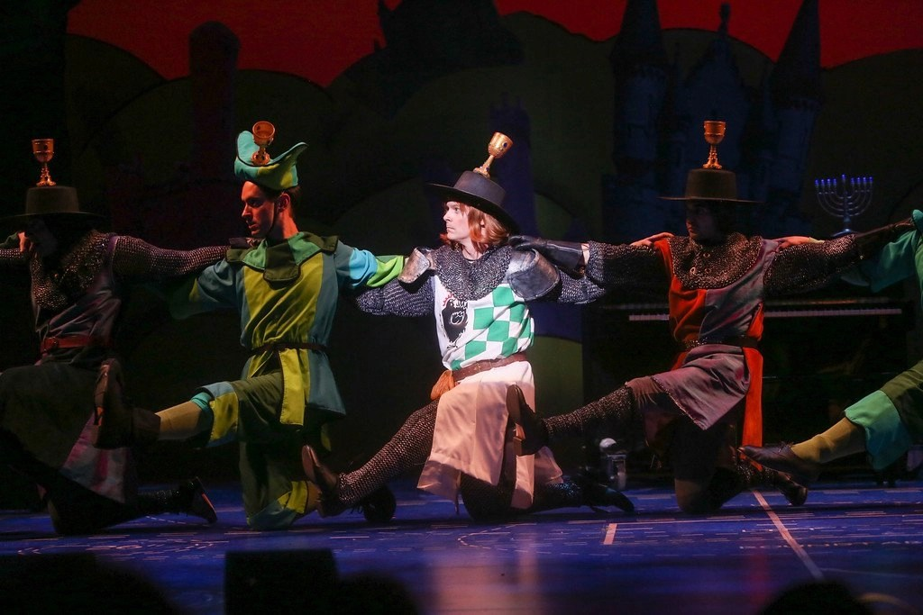 John Cummings, Jacob Hoffman, Jim Poulos, Frankie Paparone - Spamalot at Geva Theatre Center, 2015 - Director: Melissa Rain Anderson, Scenic Design: James Morgan, Costume Design: Susan Branch Towne, Lighting Design: Brian J. Lilienthal, Photos: Ken Huth