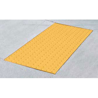 ada cast in place replaceable detectable warning mat 2ft x 4ft yellow