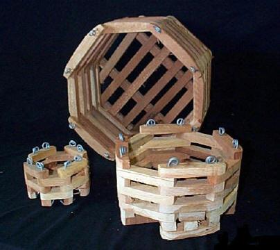 Wood Octagonal Orchid Vanda Baskets 6 8 10 Amp 12 In