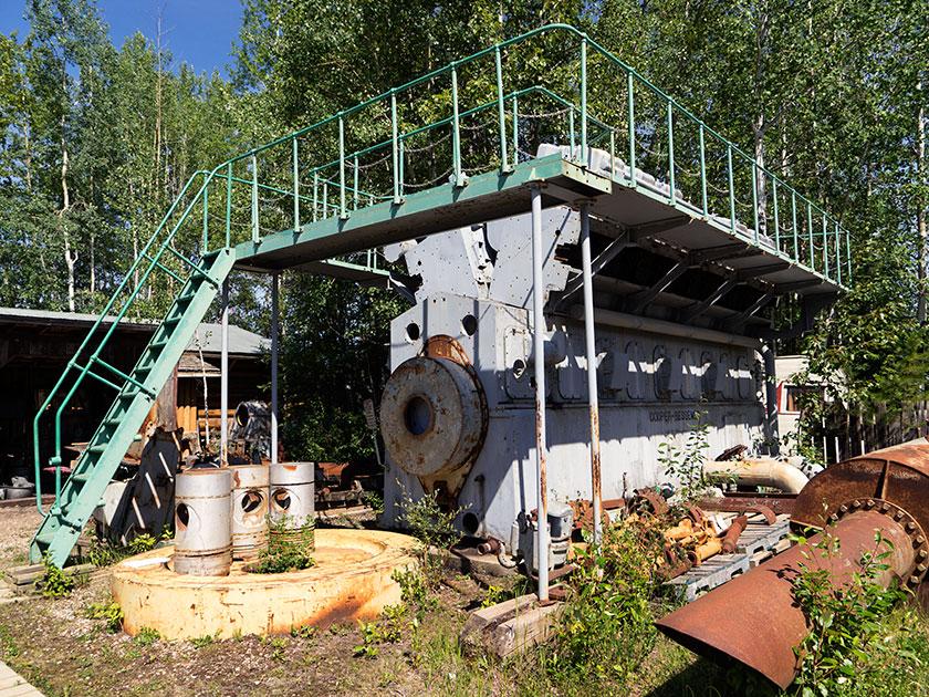 Diesel generator engine.