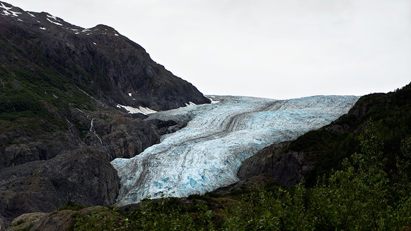 The Exit Glacier could be renamed the Gene Simmons Glacier for obvious reasons.