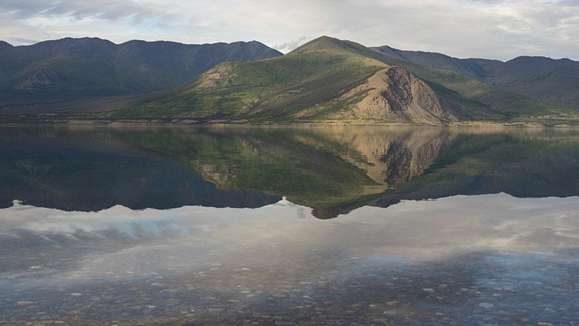 Kluane Lake and Ruby Range