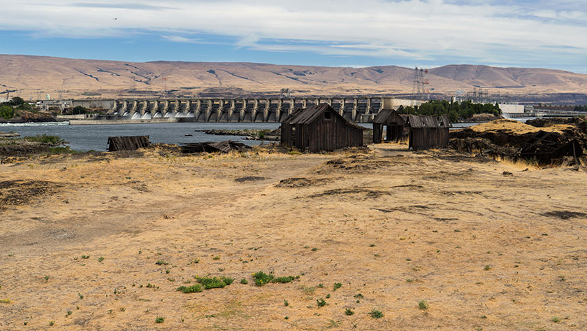 Hydro-Electrical Dam on the Columbia River.