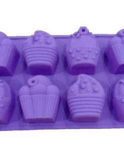 Vedini Cup Cake Making 8 Cavity Silicone Mold