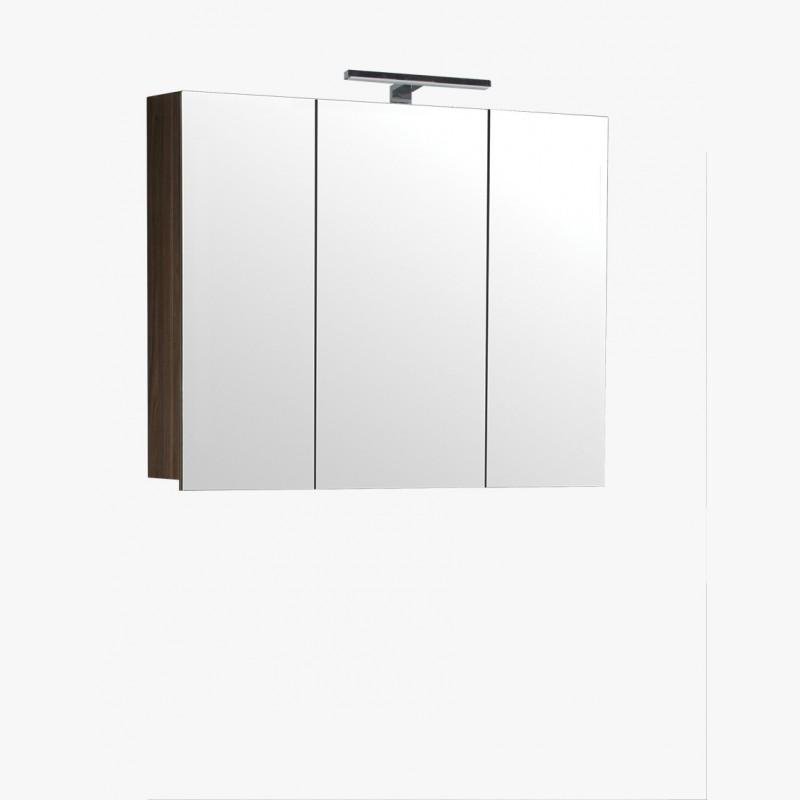 Aqualuna Meuble Salle De Bain Haut Orme Gris 100 Cm Avec Eclairage Led