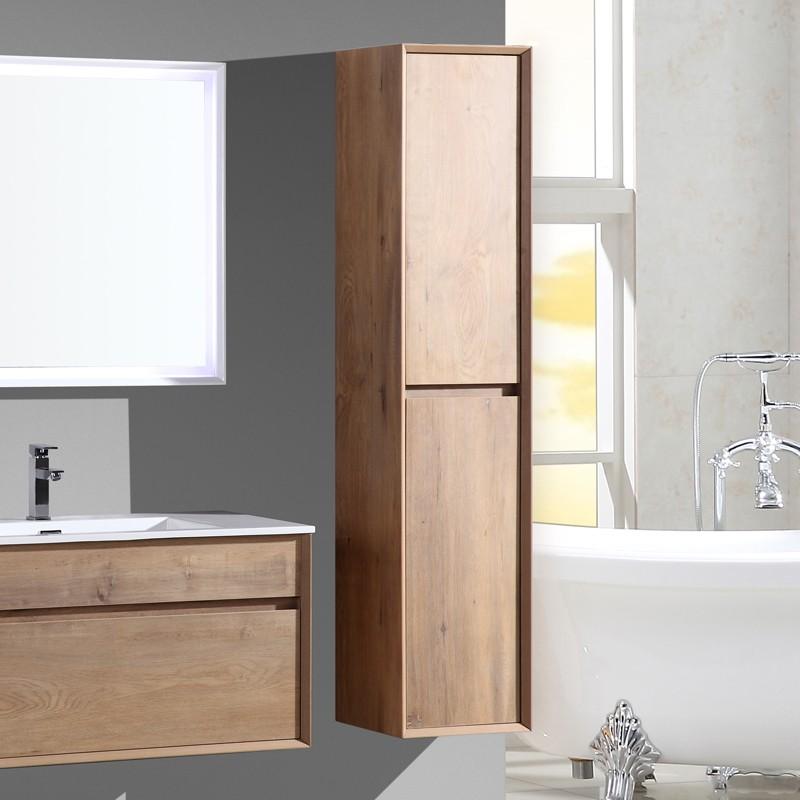 aquaroca colonne salle de bain marron 160 cm
