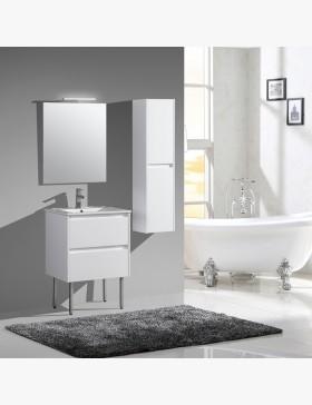 lot de 2 pieds meuble salle de bain 28 cm
