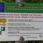 Německá část švýcarské trasy přechází ve francouzskou u Friburgu