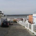 Výhled na Portugalskou stranu hranice ze španělského města Ayamonte