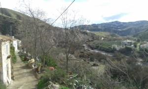 Výhled od domu na housesitting ve španělské Andalusii