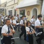 Pochodová kapela v Itálii na ostrově Ischia