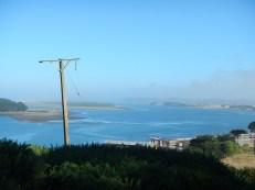 Puerto Saavedra na pobřeží Chile.