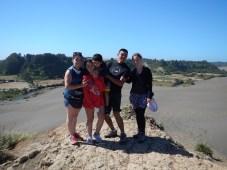 Duny u pobřeží Chile v provincii Araucanía