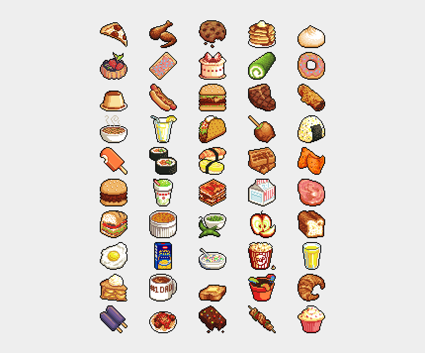 Foods Clipart Junk Food Pixel Food Art Cliparts Cartoons Jing Fm