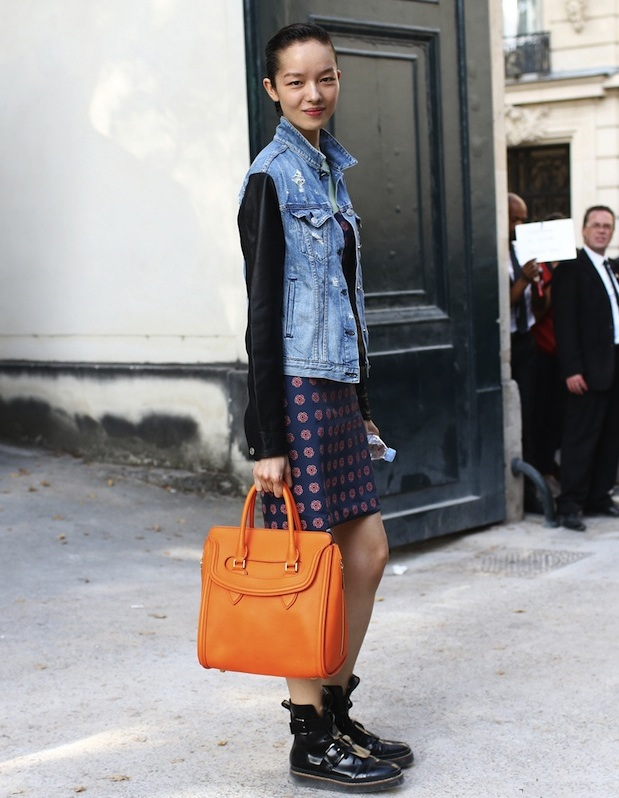 A street style shot of model Fei Fei Sun taken for Vogue at Paris Fashion week in September 2013. (Vogue)
