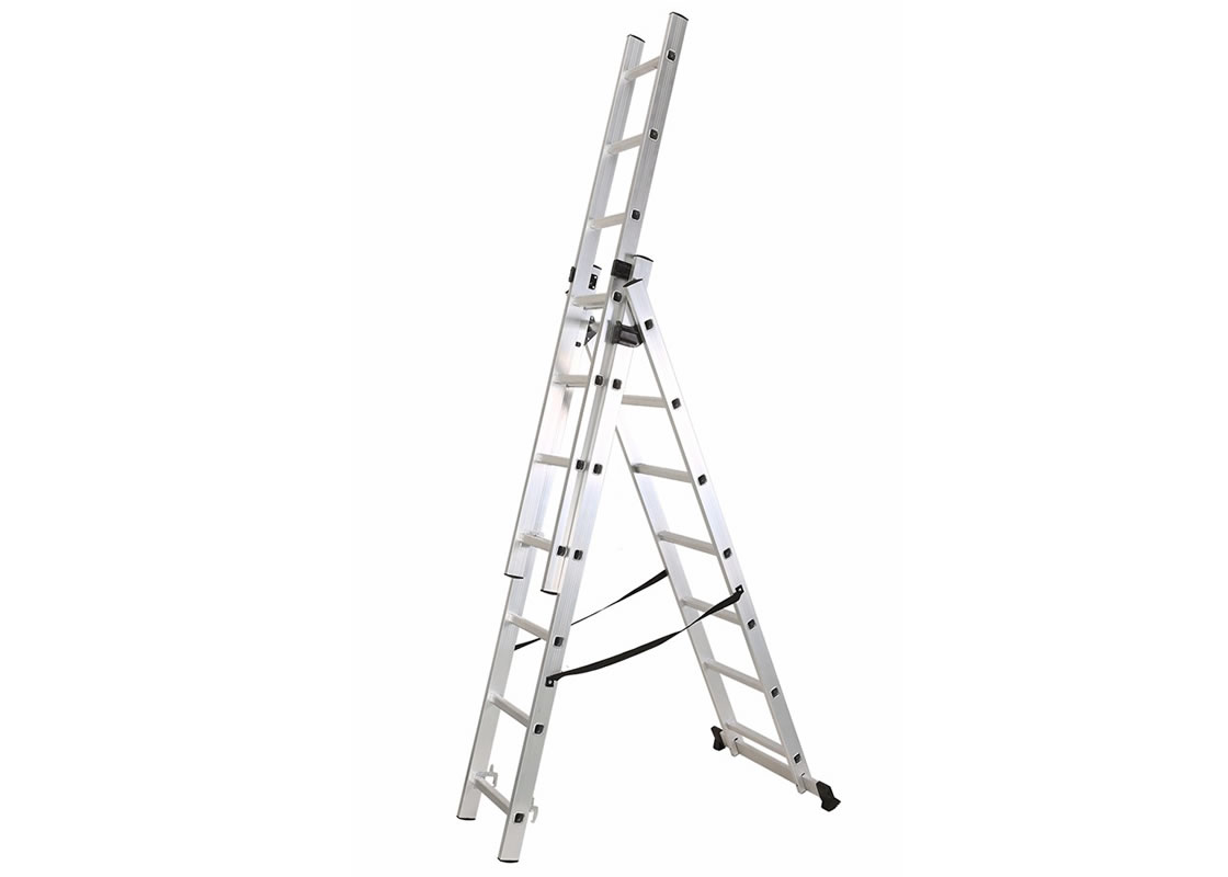 3 Section Extension Ladder 3x7 Rungs