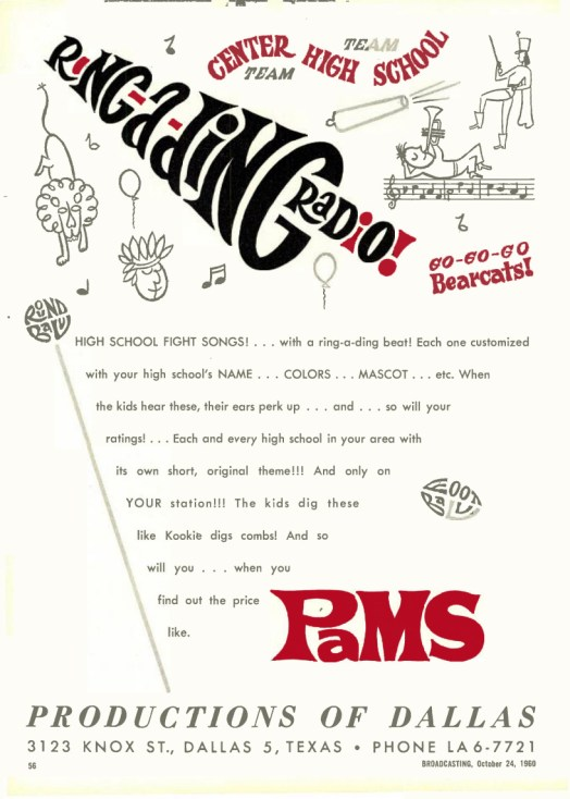PAMS - Advertentie 24.10.1960