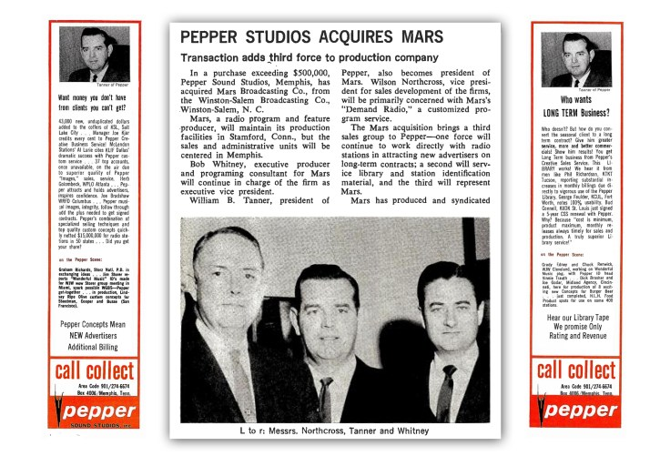 Pepper Tanner - Acquisitions 1964