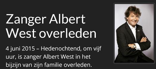 Albert West overleden 2