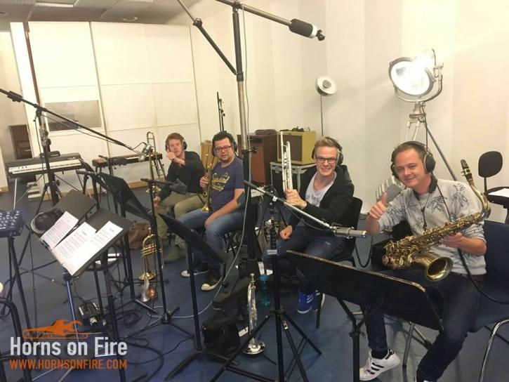 Top Format blazersessie Sam Thomas, Stefan Danckaert, Erik van der Heijden en Thom Kooijmans bij Power Sound Studio