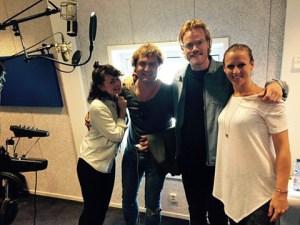Top Format koor Omroep Brabant aug 2016 vlnr Jenny Lena, Raymond Klaassen, David Tam en Natasja den Toom