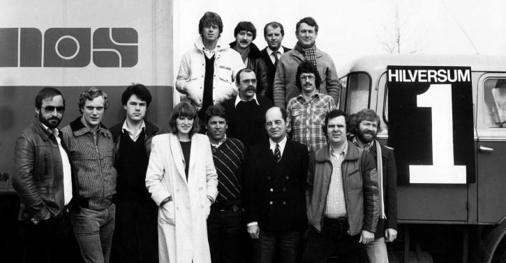 Het NOS Radio Tour de France team in 1990 (Hans Hogendoorn geheel rechts - Beeld en Geluid)