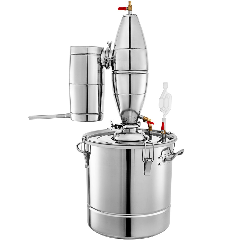 20L Alcohol Stainless Distiller Brew Kit Home Moonshine Still Wine Making Boiler