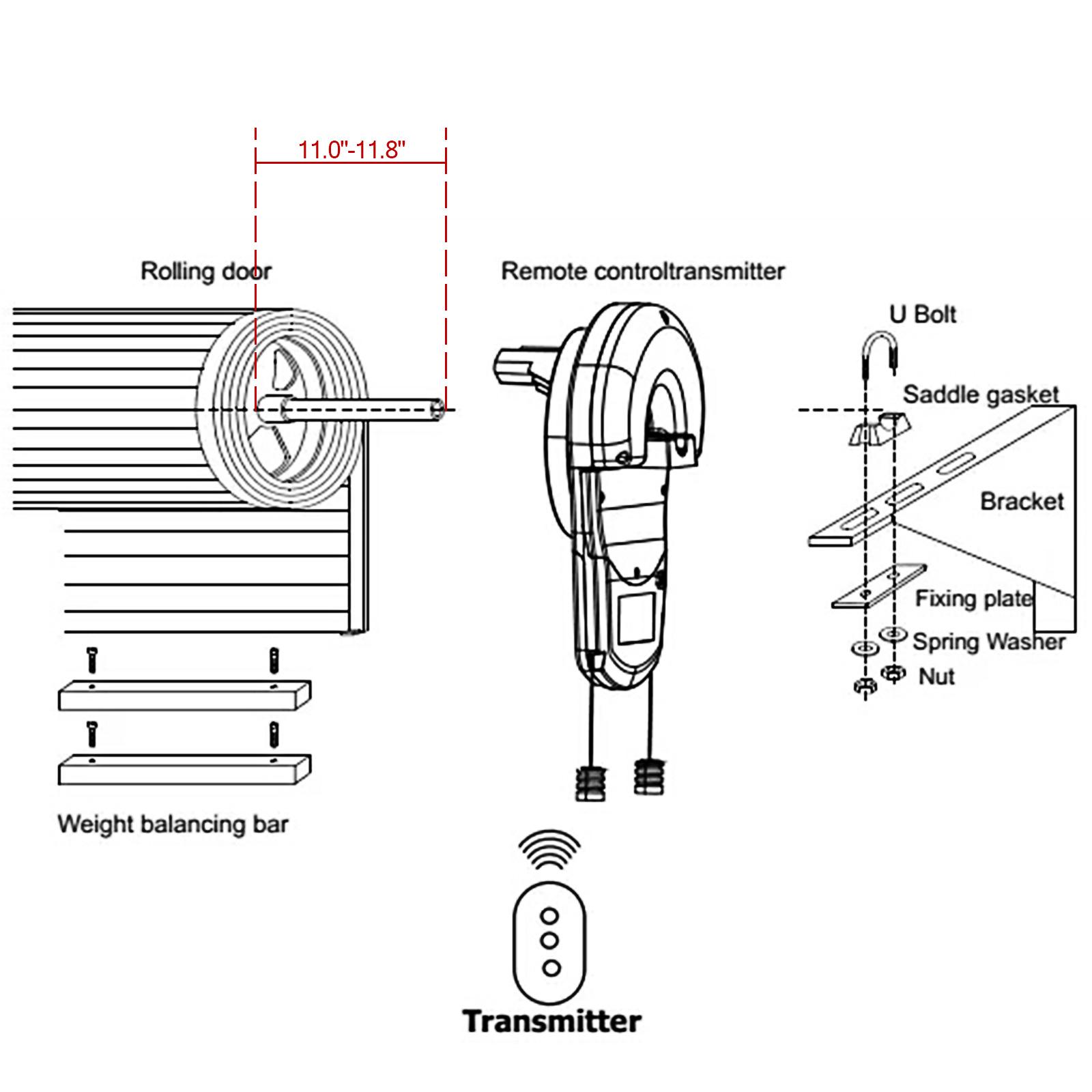Garage Roller Door Opener Motor Rolling Gate Automatic