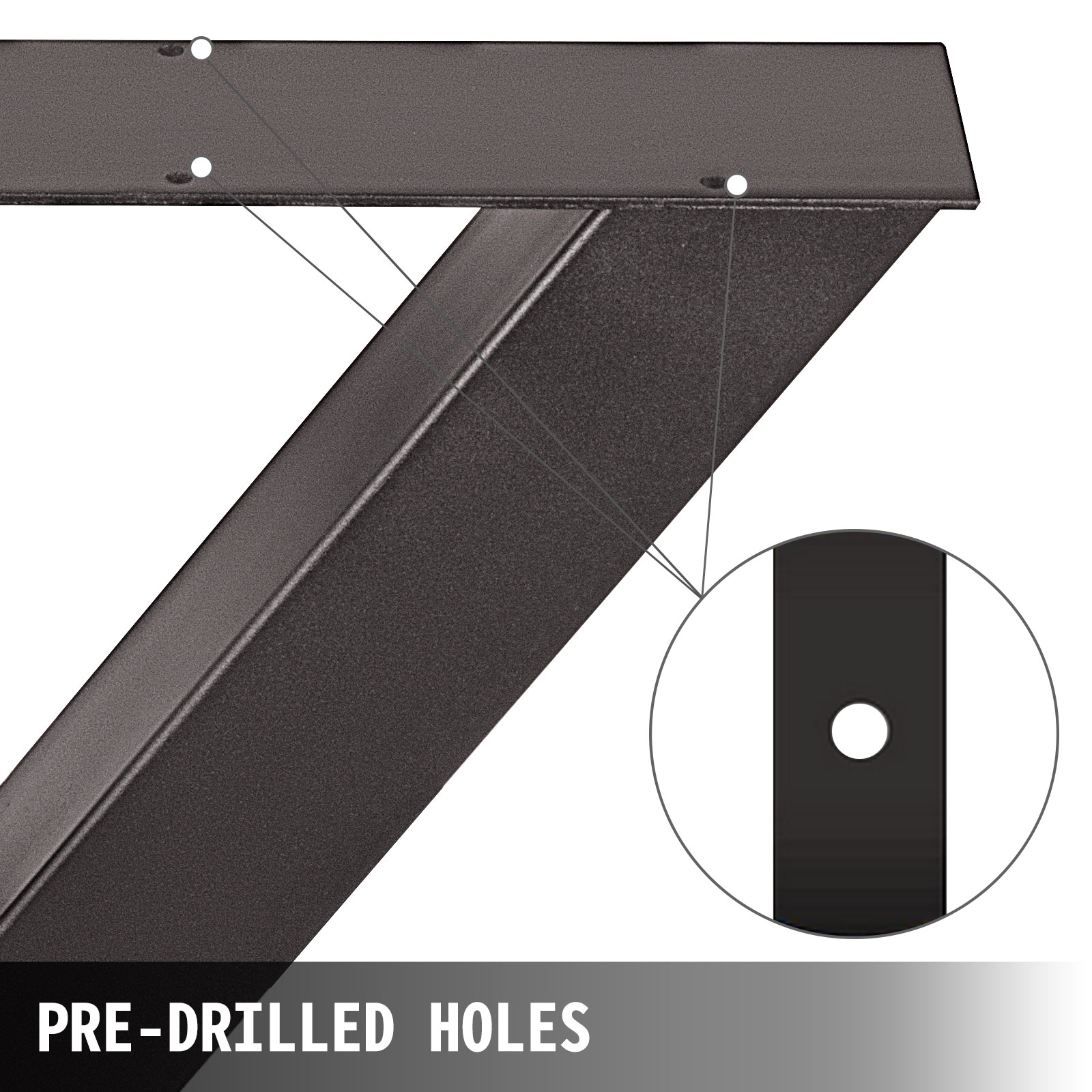 details sur 2 metal pieds de table acier 72x60cm industriel style chassis support de table