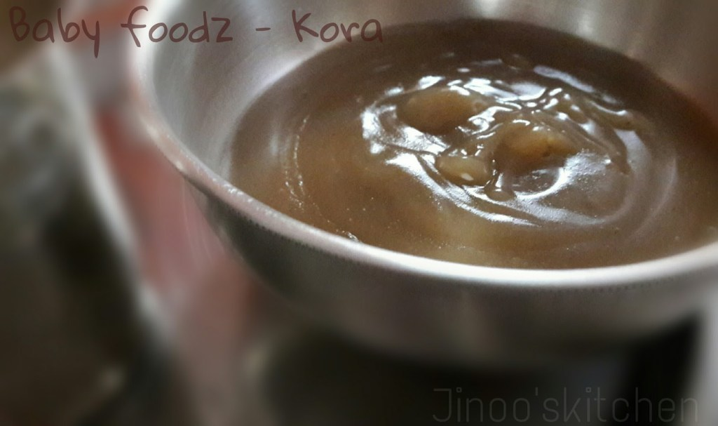 Baby foodz – Ragi milk porridge