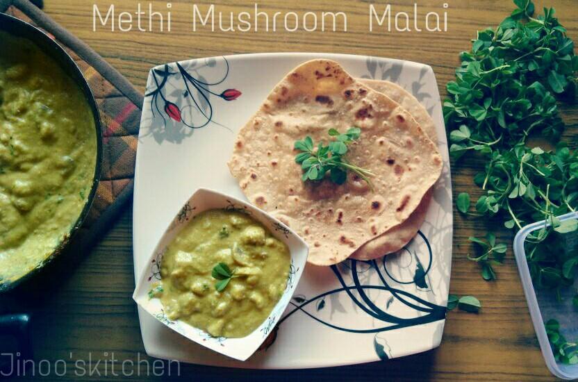 Methi Mushroom Malai
