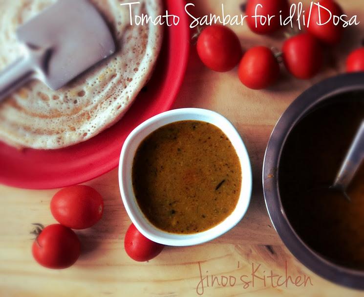 Tomato Sambar for Idli/Dosa