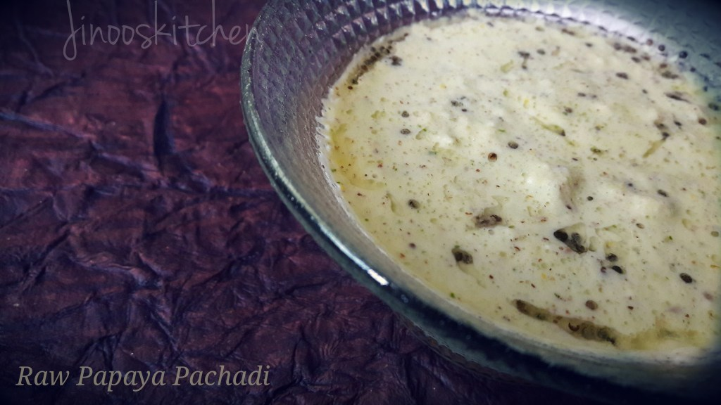 Raw papaya pachadi