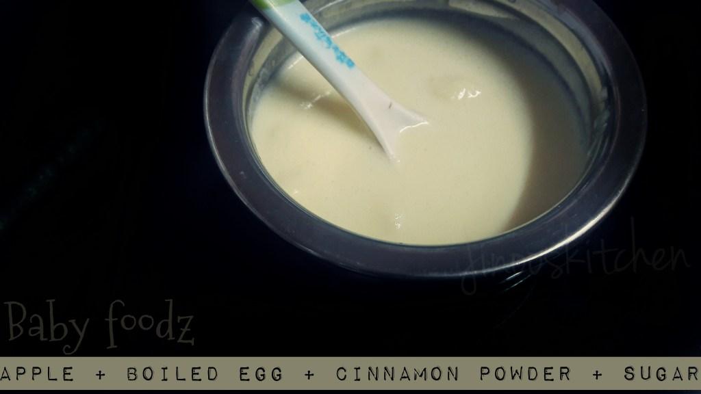 Apple egg puree