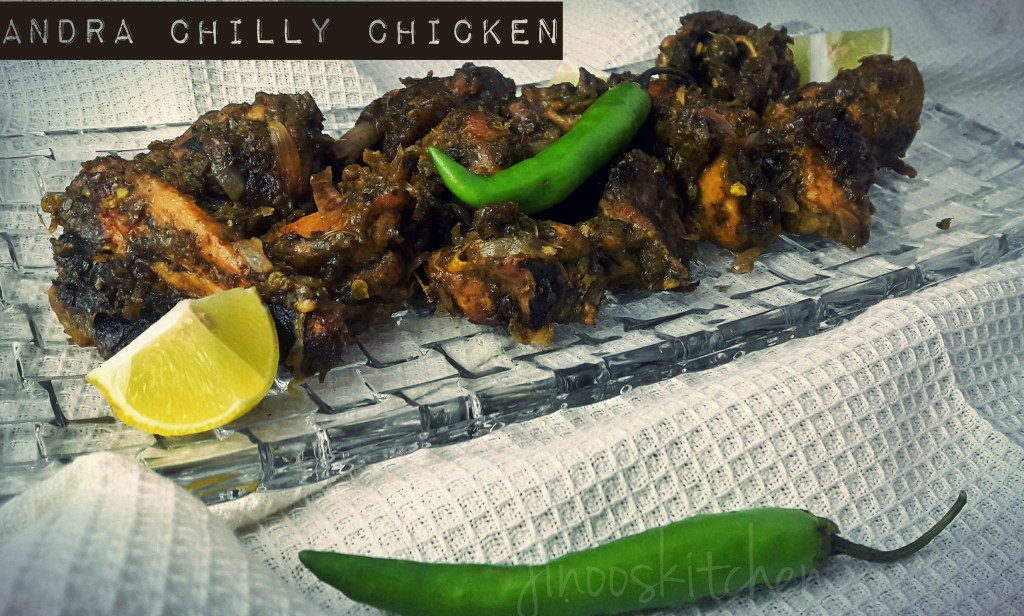 Andra chilly chicken/Green chilli chicken dry