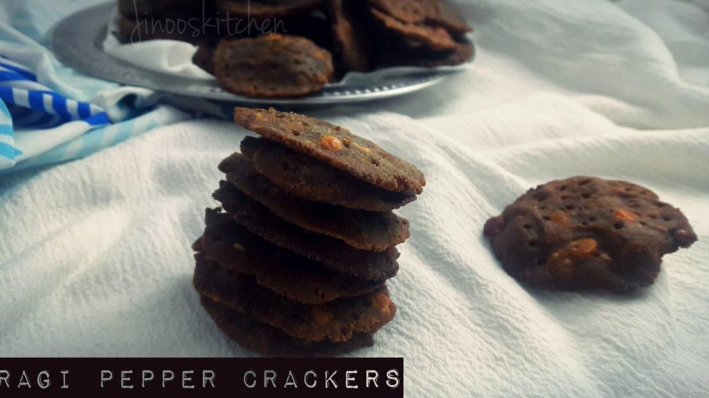 Ragi Pepper Crackers ~ Ragi milagu Thattai/Chekkalu