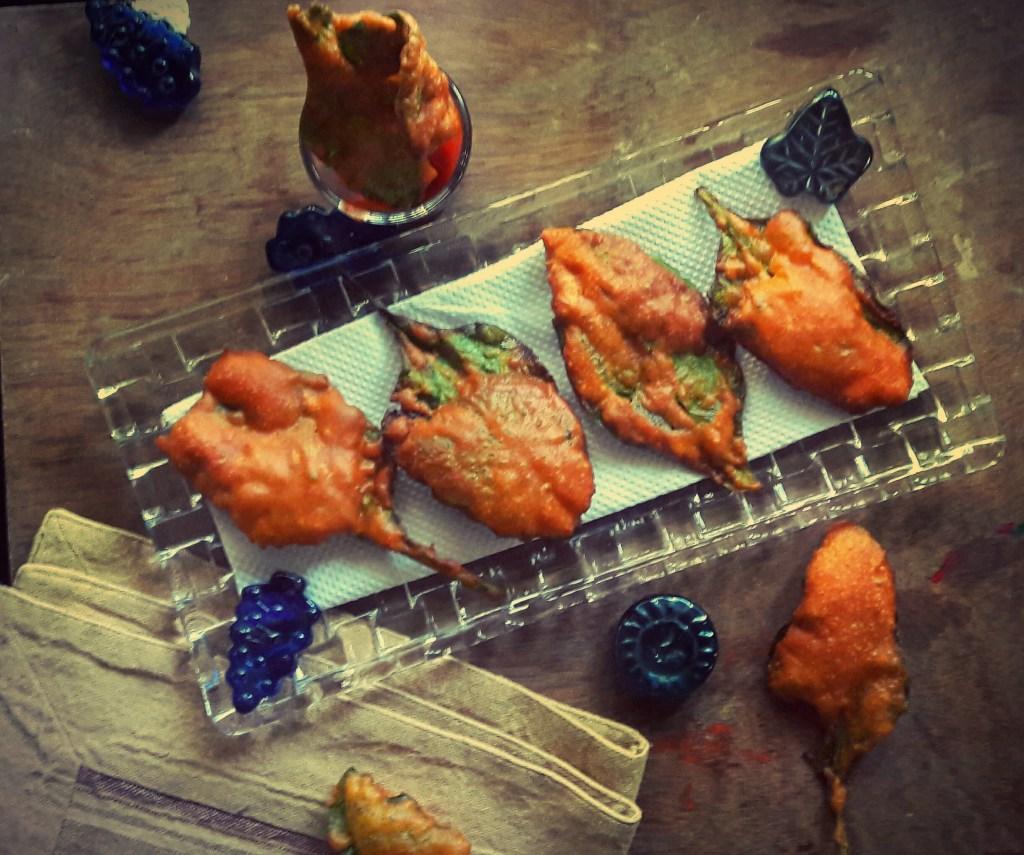 Palak Pakora ~ Spinach fritters